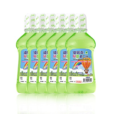 [時時樂限定](買三送三) 德恩奈兒童漱口水500ml-共六瓶
