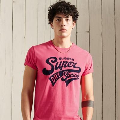 SUPERDRY 男裝 短袖T恤 COLLEGIATE GRAPHIC 粉紅