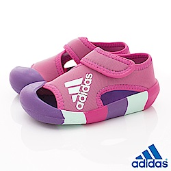 adidas童鞋 輕量護趾鞋款 NI7198桃粉(小童段)
