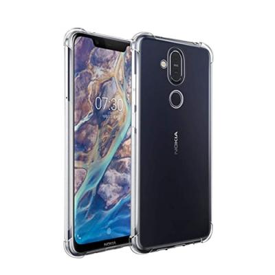 Nokia 8.1 透明 四角 防摔氣囊 手機殼 保護殼 手機套 (Nokia 8.1手機殼 Nokia 8.1保護殼 Nokia8.1保護套)