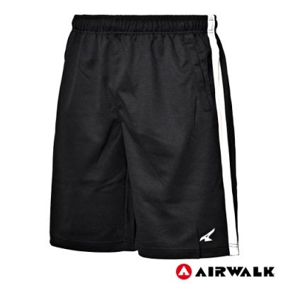 【AIRWALK】男款運動休閒短褲-黑色