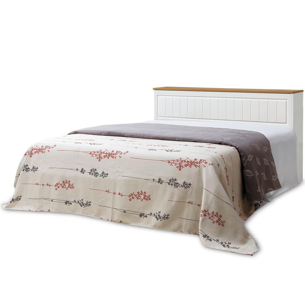 凱曼  芬利5尺鄉村風純白收納雙人床(床頭箱+床底)-2件式
