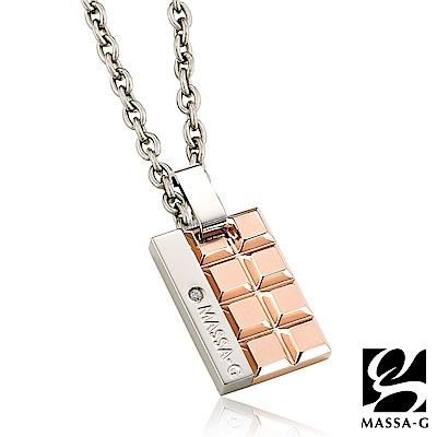 MASSA-G deco系列【玫瑰巧克蕾特】金屬鍺錠純鈦項