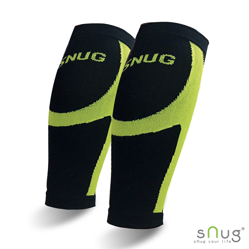 SNUG運動壓縮系列 健康運動壓縮小腿套 (亮綠 S/M/L/XL/2XL)