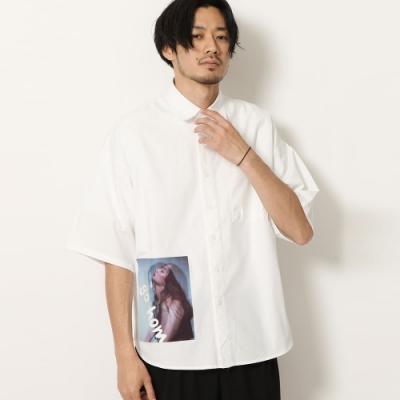 寬版圖案印刷短袖襯衫(2色) ZIP日本男裝