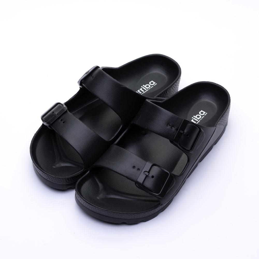 ARRIBA艾樂跑男女鞋-百搭經典防水拖鞋-黑/藍/白(61474)