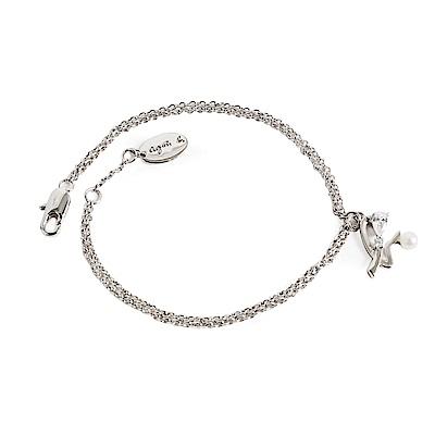 agnes b. b.logo女性珍珠手鍊