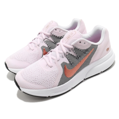 Nike 慢跑鞋 Zoom Span 3 運動 女鞋 氣墊 舒適 避震 路跑 健身 球鞋 粉 黑 CQ9267501