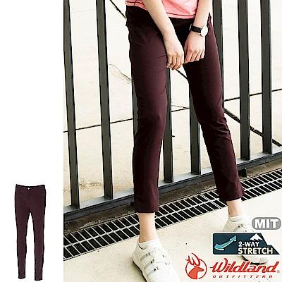 Wildland 荒野 0A71315-18赫紅色 女彈性透氣貼身長褲