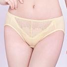 思薇爾 沁甜花漾系列M-XXL蕾絲中腰三角內褲(蛋蜜色)
