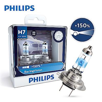 PHILIPS 飛利浦車燈 極速競技光RV+150%(兩入)