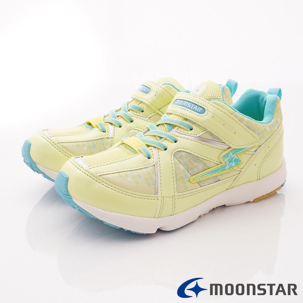 日本月星頂級競速童鞋 輕量運動鞋款 EI077綠(中大童段)