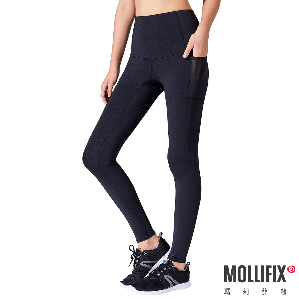 Mollifix 瑪莉菲絲 MoveFree 高彈力訓練動塑褲 (黑)