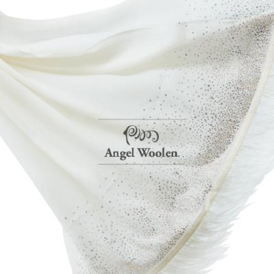 【ANGEL WOOLEN】鑽羽印度手工水鑽披肩(共兩色)