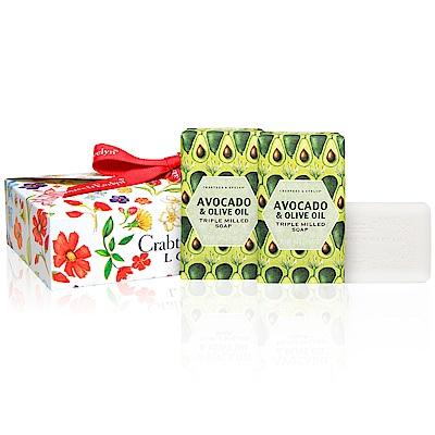 Crabtree & Evelyn瑰珀翠 酪梨&橄欖油柔嫩皂3入禮盒