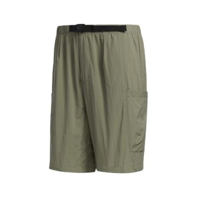 adidas 短褲 Woven Shorts 運動休閒 男款 愛迪達 基本款 口袋 百搭 腰圍可調 綠 黑 FM5404