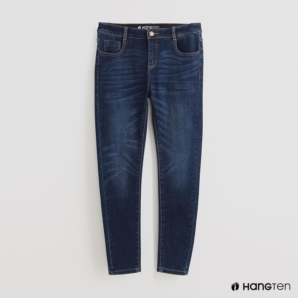 Hang Ten - 女裝 - 深染水洗修身牛仔長褲 - 藍