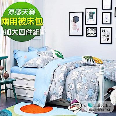 Ania Casa 睡羊羊 涼感天絲 採用3M吸溼排汗專利 加大鋪棉兩用被床包組