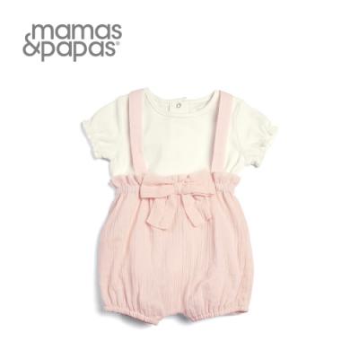 Mamas&Papas 草莓泡芙-短袖吊帶褲套裝