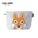 【COQENPATE】法國有機棉無毒環保布包 / 大大水堅包 - 狐狸