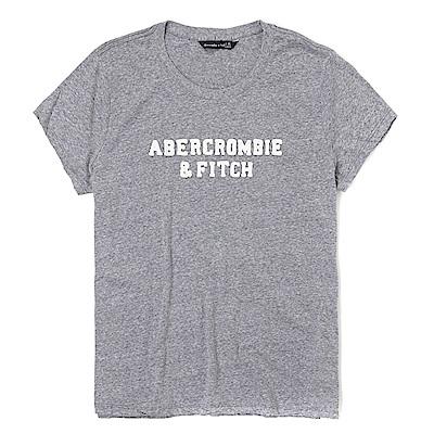麋鹿 AF A&F 經典刺繡文字設計短袖T恤(女)-灰色