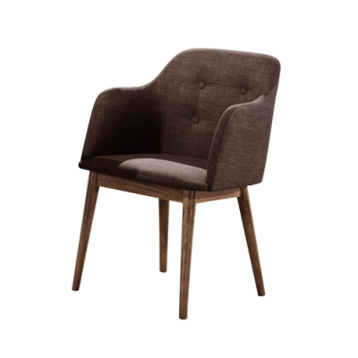 Boden-艾比布面扶手實木餐椅/單椅/洽談椅/休閒椅(兩色可選)