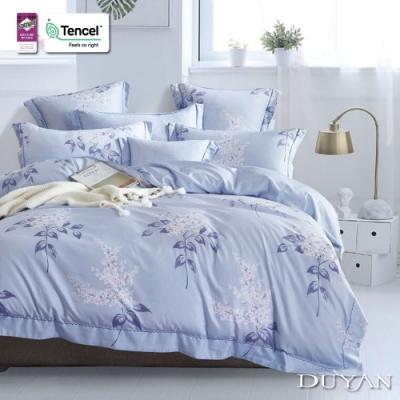 DUYAN竹漾-3M吸濕排汗奧地利天絲-雙人床包被套四件組-晨露花榭
