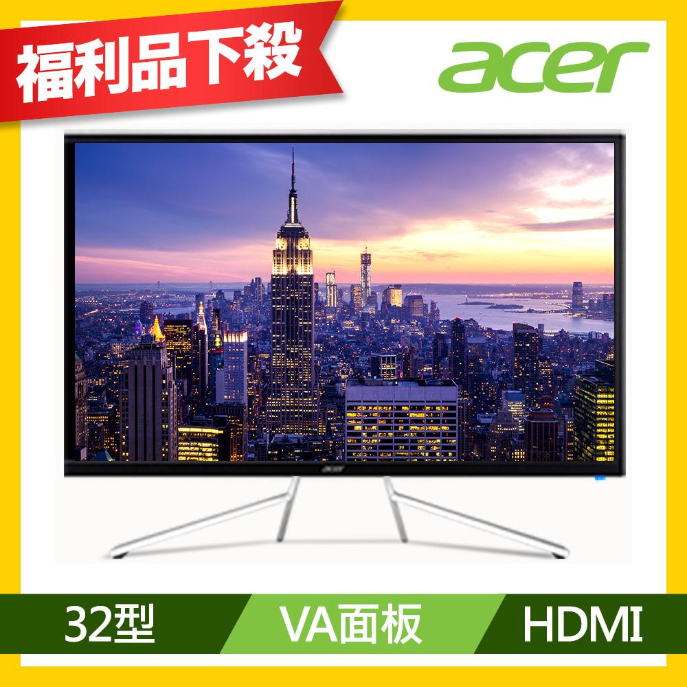 福利品 Acer ET322QK 32型 4K VA窄邊框電腦螢幕
