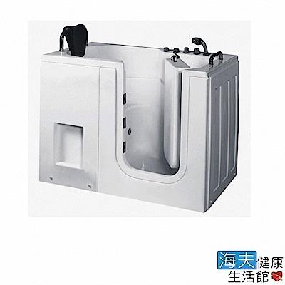 海夫健康生活館 開門式浴缸 內開式 111-T 恆溫水柱按摩款 (130*76*98cm)
