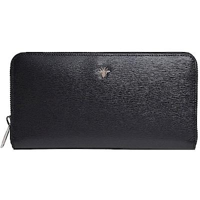 Dior Homme 蜜蜂金屬綴飾小牛皮拉鍊長夾(黑) @ Y!購物