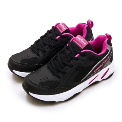 GOODYEAR 固特異 經典復古慢跑鞋 WALK QUEEN 2老爹鞋系列 黑桃銀 92820