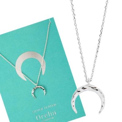 Orelia英國品牌 新月銀錘銀色項鍊