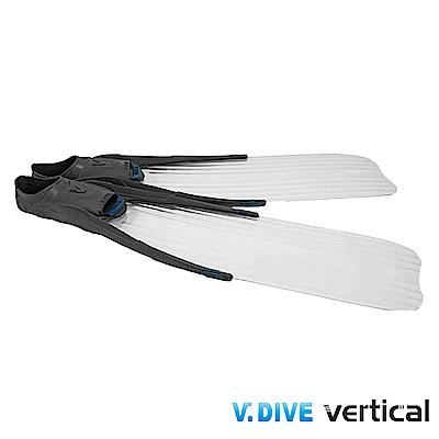 V.DIVE威帶夫 LONG FIN 潛水長蛙鞋套-F998ICE 透明