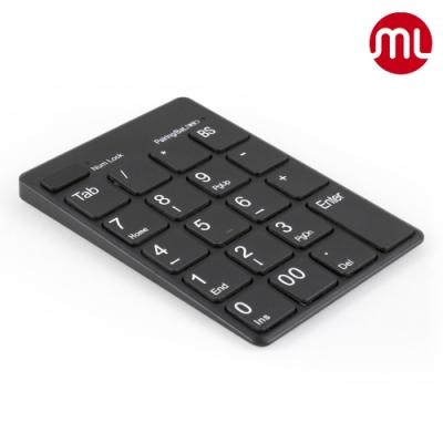 【morelife】藍牙USB雙功能數字鍵盤-黑WKP-3170K