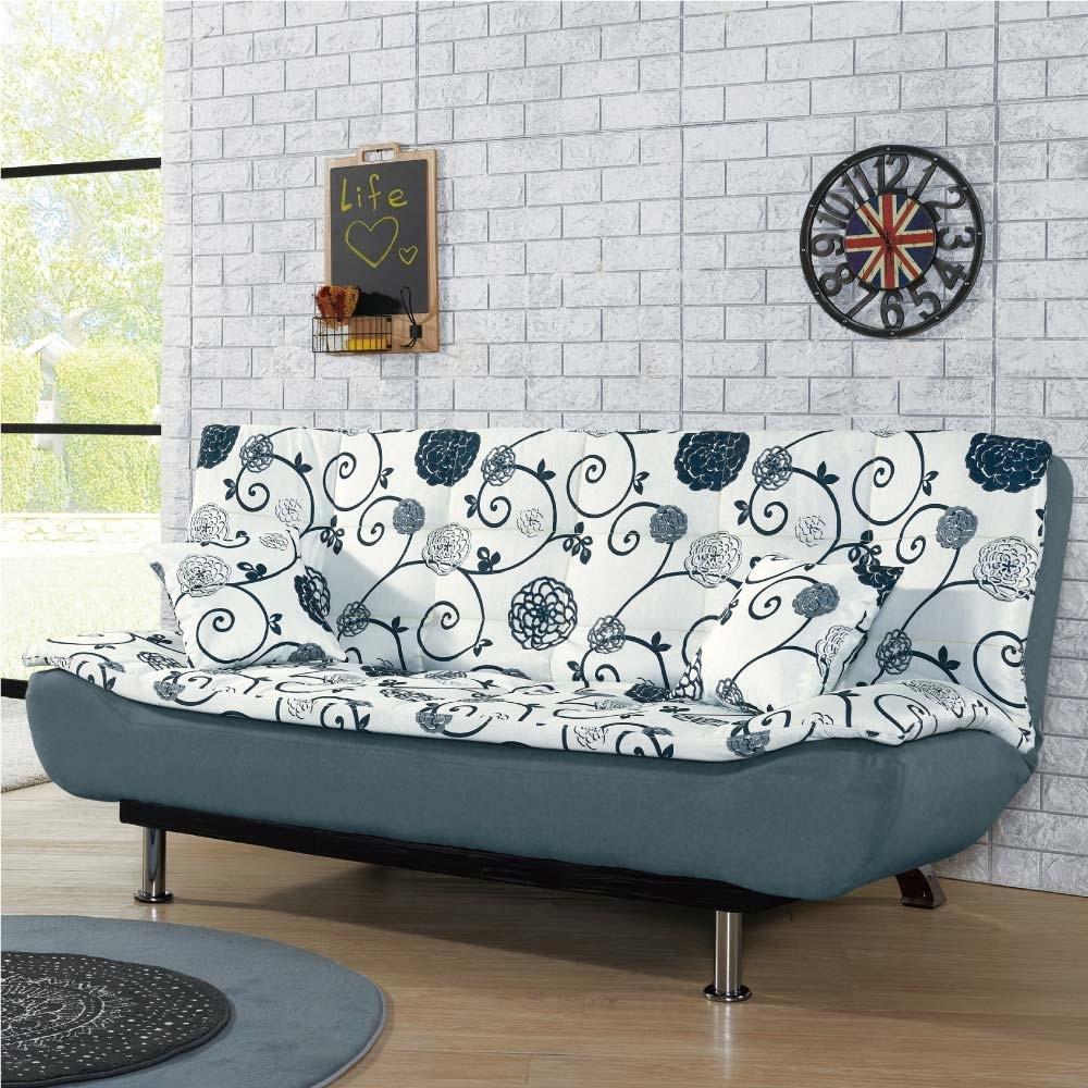 文創集 珂琪棉麻布獨立筒沙發床(二色+展開式機能)-190x118x49cm免組
