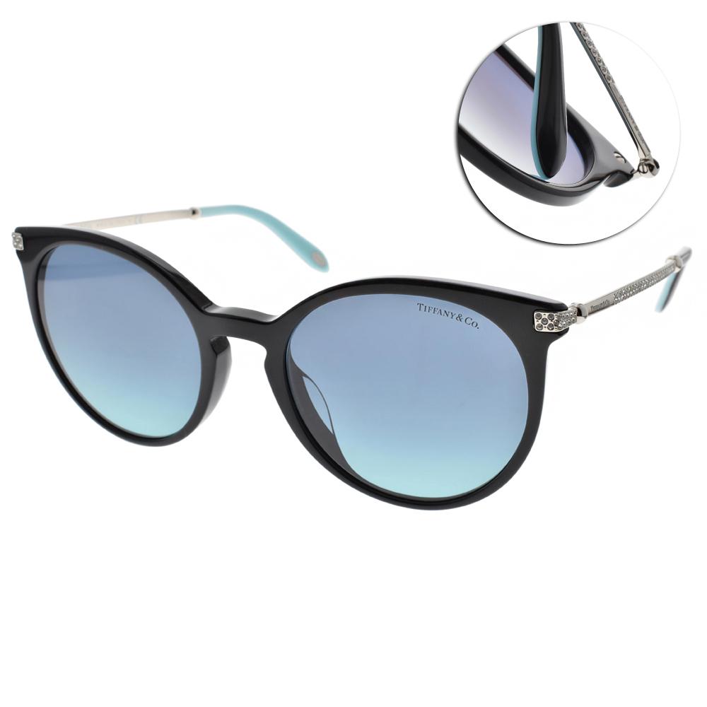 Tiffany&CO.太陽眼鏡 簡約典雅貓眼/黑-銀#TF4142BF 80019S