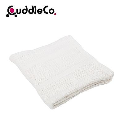 英國CuddleCo 竹纖維寶寶洞洞毯90x60cm-優雅白