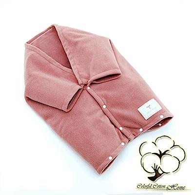 采棉居寢飾文化館 遠紅外線發熱多功能嬰兒抱毯-粉