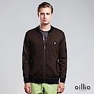 歐洲貴族 oillio 羊毛毛衣外套 素面簡約 保暖首選 咖啡色