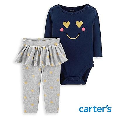 Carter's 愛心笑臉印圖二件組套裝