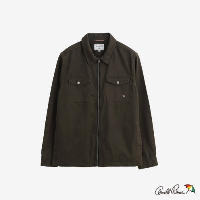 Arnold Palmer-男裝-拉鍊式夾克襯衫-綠色