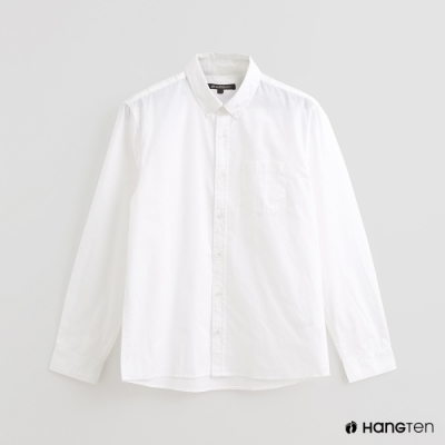 Hang Ten - 男裝 - 經典素色百搭襯衫 - 白