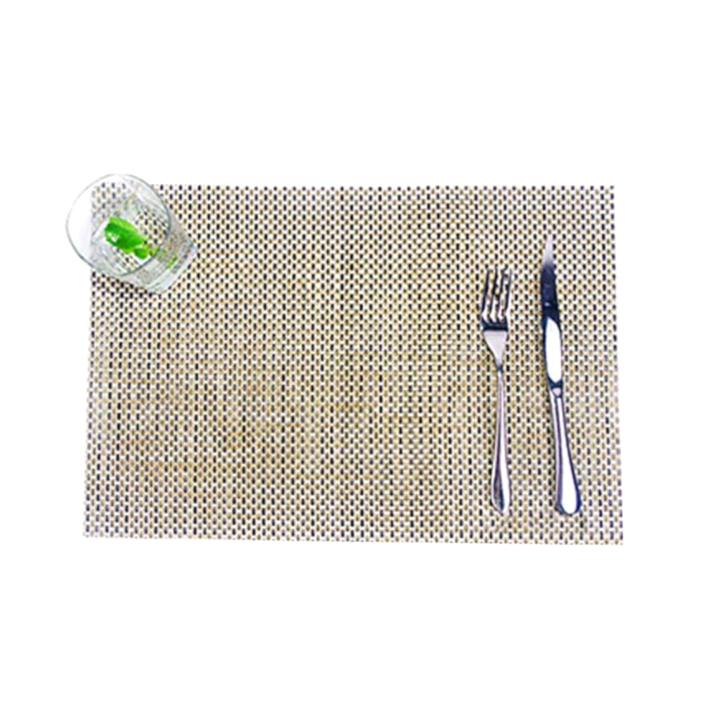 仿竹編織無邊桌墊/餐墊-10入(EZ-TB1)