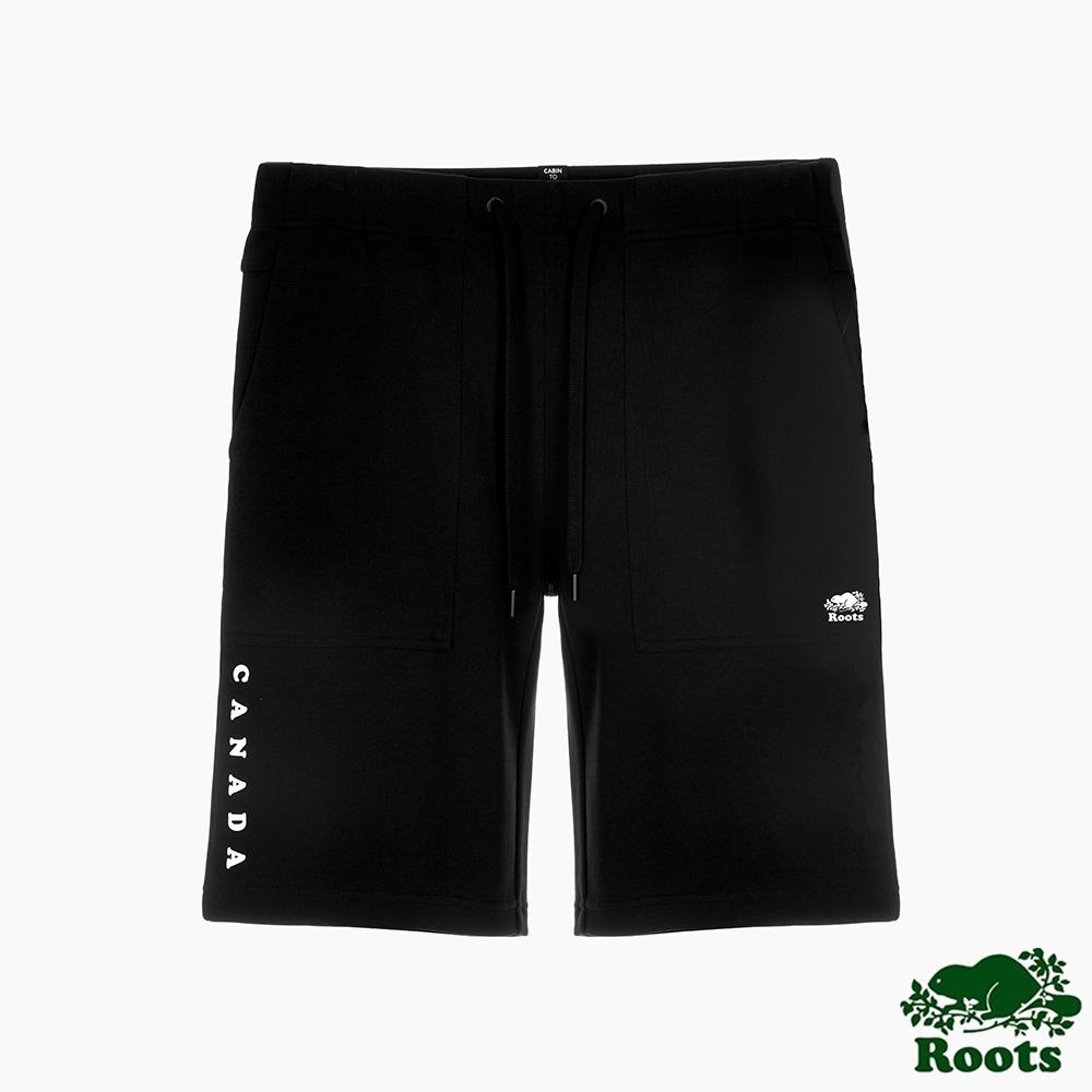 Roots男裝-城市悠遊系列 休閒口袋短褲-黑色