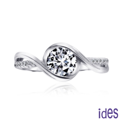 ides愛蒂思 歐美設計週年禮1.02克拉E/VS1八心八箭頂級3EX車工鑽石戒指