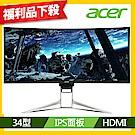 Acer XR342CK P 34型IPS 21:9曲面HDR電腦螢幕 福利品