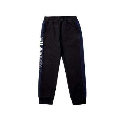 FILA KIDS 童針織束口長褲-黑 1PNT-8440-BK