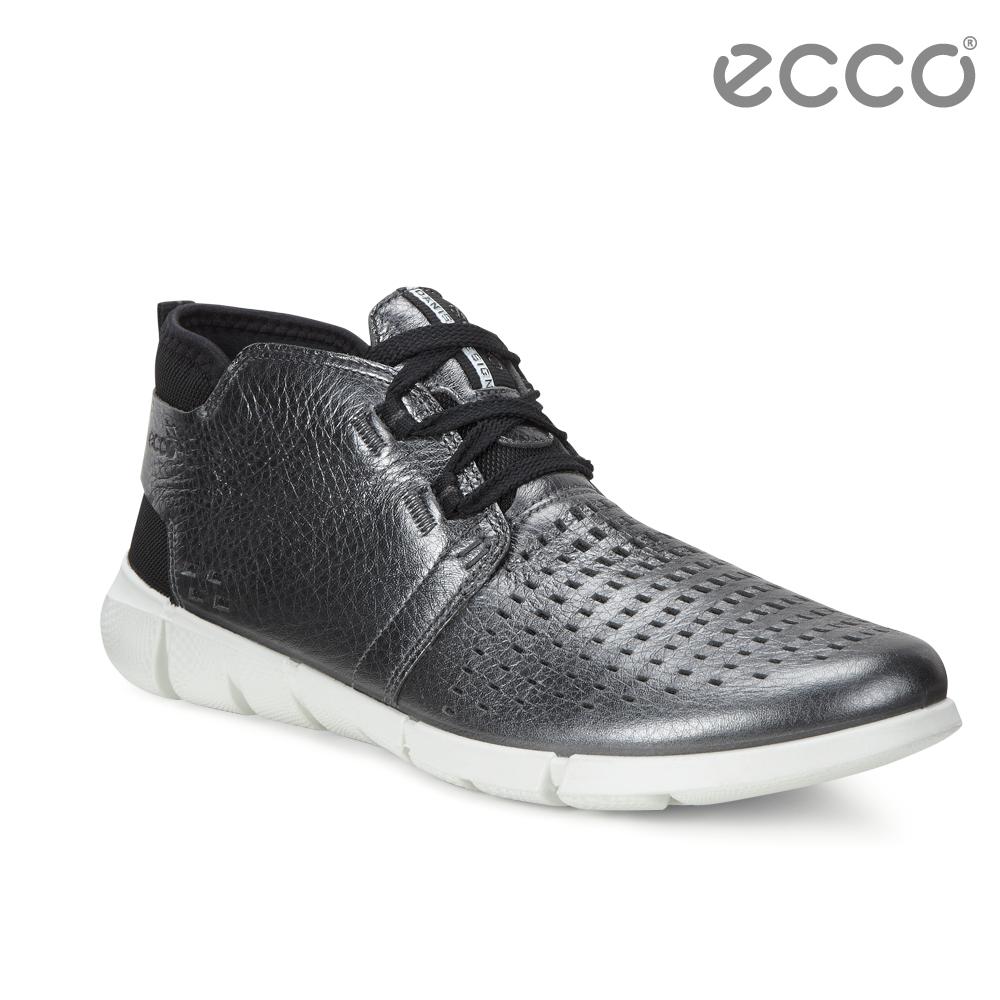 ECCO INTRINSIC 1 都市輕量步行運動鞋-銀