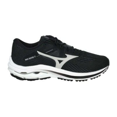 MIZUNO WAVE INSPIRE 17女慢跑鞋-WIDE-寬楦 美津濃 J1GD214638 黑淺灰