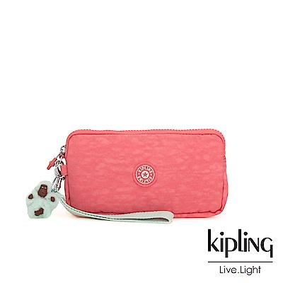 Kipling 活力珊瑚橘手拿包-LOWIE